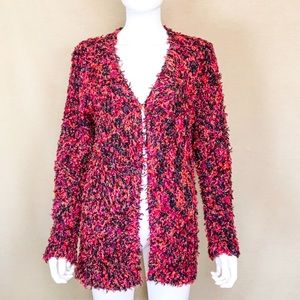 Chico's Multi-colored Fuzzy Oversize Cardigan S/M
